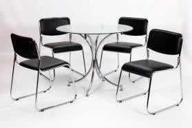 Heartlands Furniture Orkney Dining Table Chrome - kudo Lounge