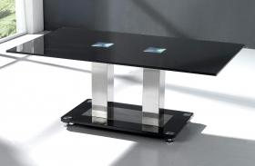 Heartlands Furniture Trinity Coffee Table Chrome & Black - kudo Lounge