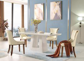Heartlands Venice Marble Dining Table with Marble Base