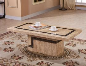 Heartlands Furniture Potenza Marble Coffee Table with Marble Base - kudo Lounge