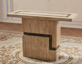Heartlands Furniture Potenza Marble Console Table with Marble Base - kudo Lounge