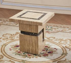 Heartlands Furniture Potenza Marble Lamp Table with Marble Base