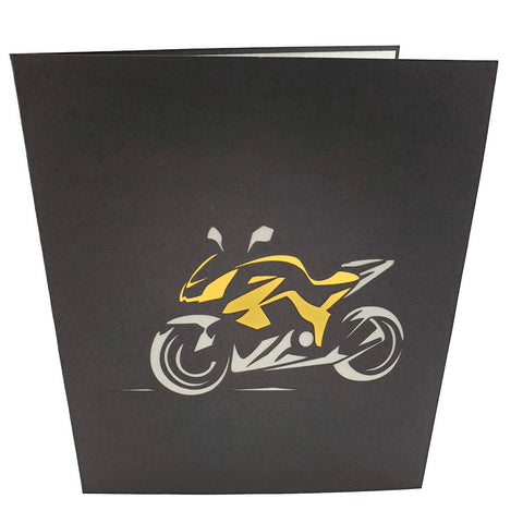 Kawasaki Ninja inspired Sports Motorbike (orange) 3d pop up card