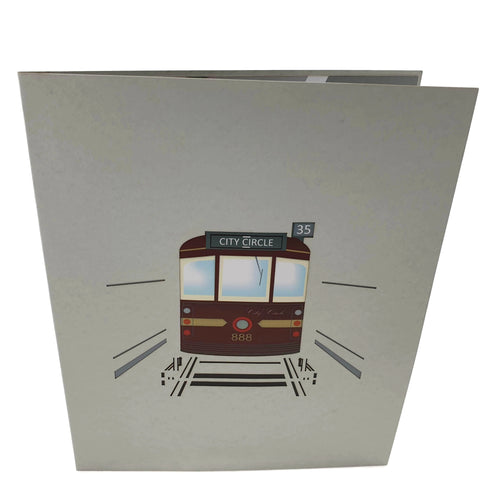 Melbourne City Circle Tram 3d pop up card