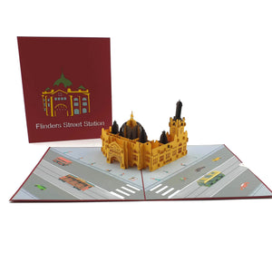 Flinders Street Station 3d pop up card