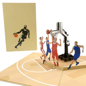 Basketball Team 3d pop up card