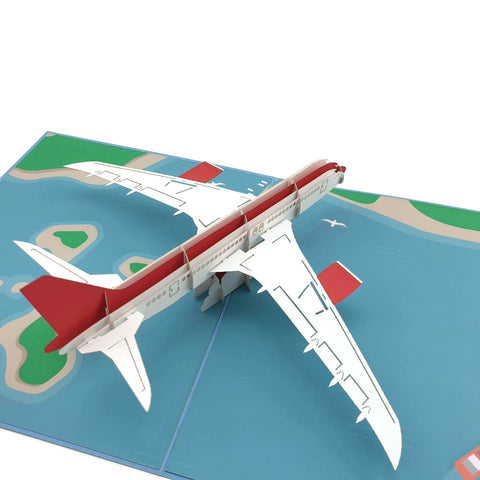 Airplane 3D pop up card