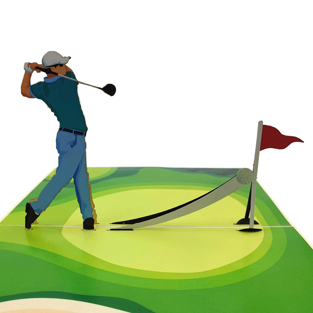Golfer (Man) 3d pop up card