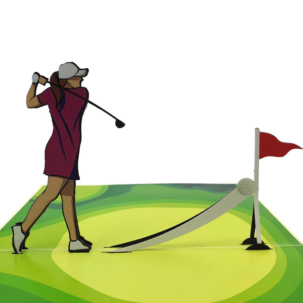 Golfer (Lady) 3d pop up card
