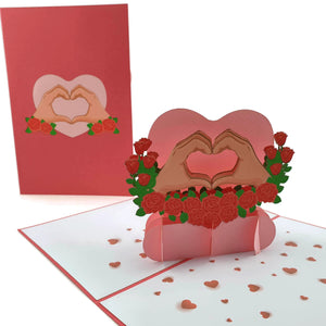 Love Heart pop up card