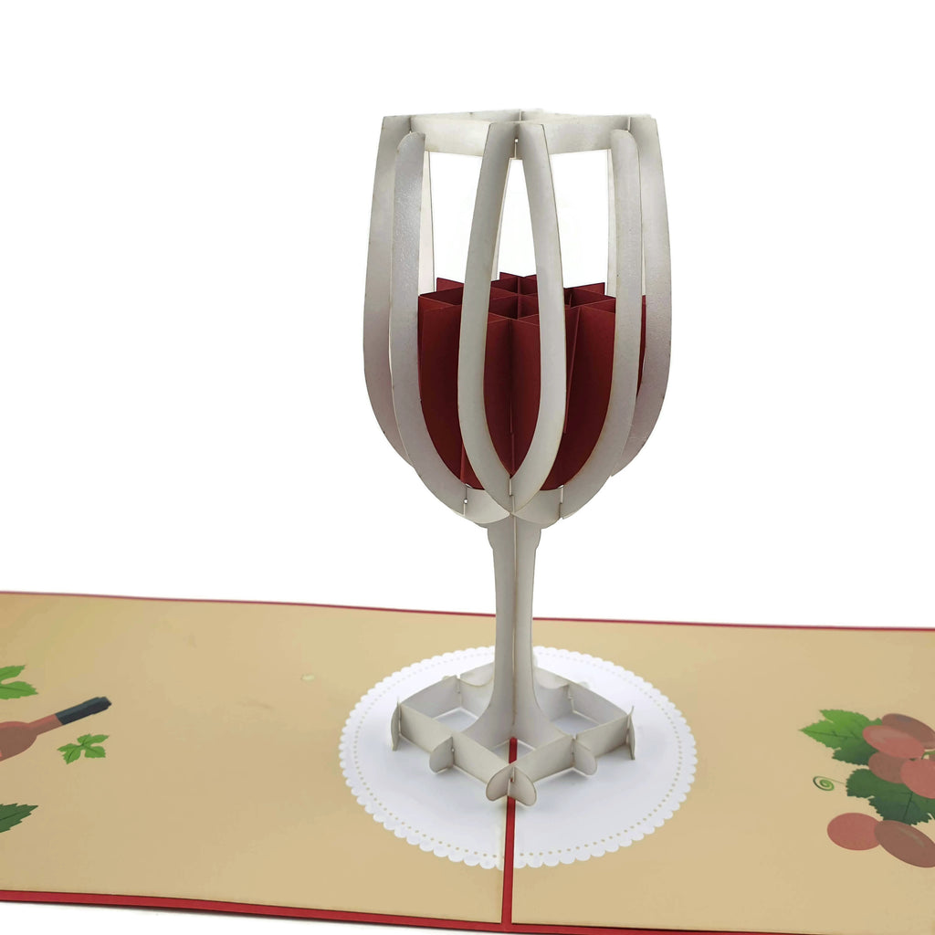 Wine Glass 3d pop up card