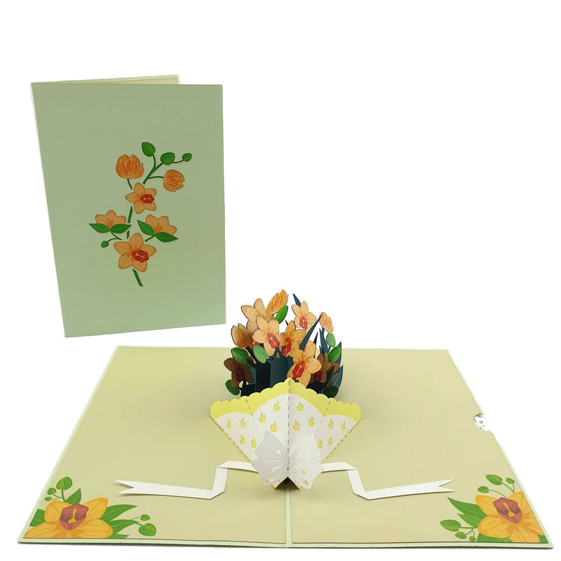 Orchid Bouquet 3d Pop Up Card
