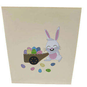 Easter Bunny Egg Hunt 3d pop up card