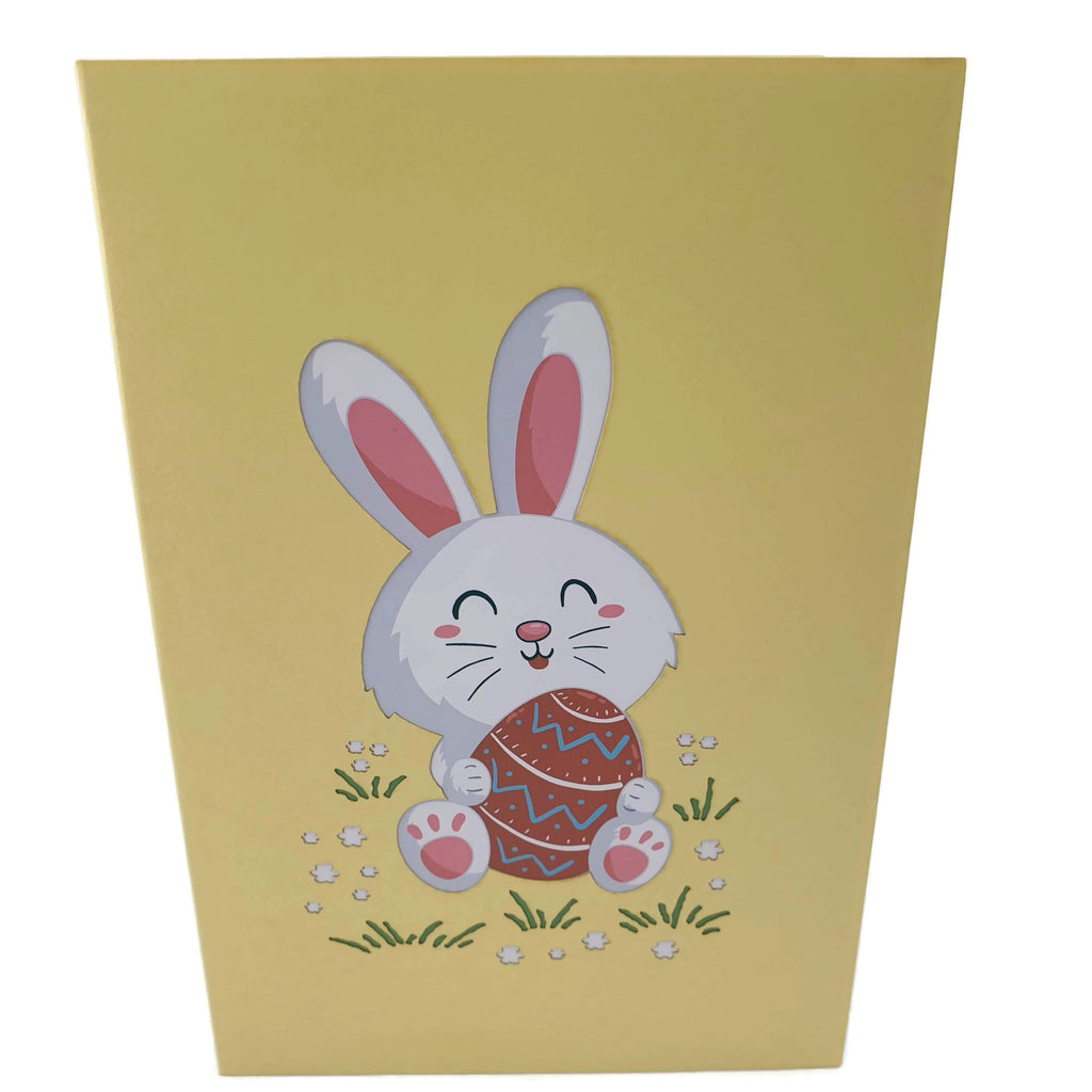 Easter Bunny With Easter Egg 3d pop up card