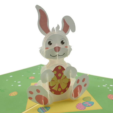 Easter Bunny With Egg 3d pop up card