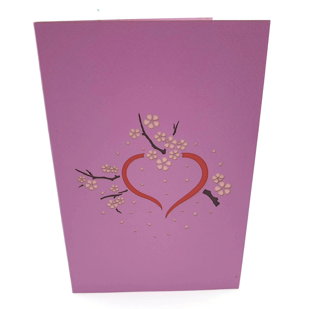 Cherry Blossom Love Scene Same Sex Female 3D pop up card