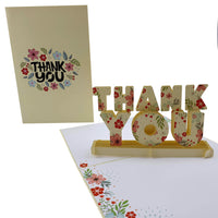 Floral Thank You 3d pop up card