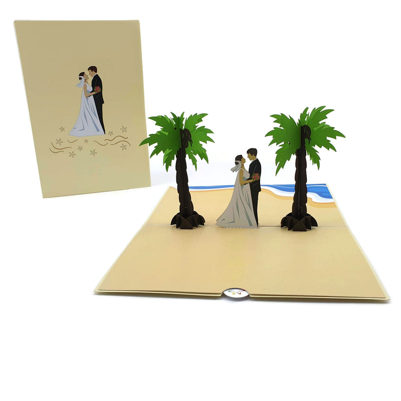 Beach Wedding 3d pop up card