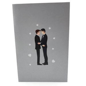 Wedding Day Grooms 3d pop up card