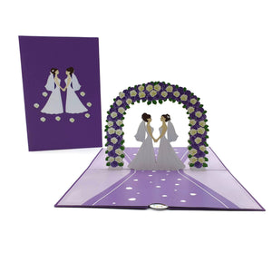 Wedding Day Brides 3d pop up card