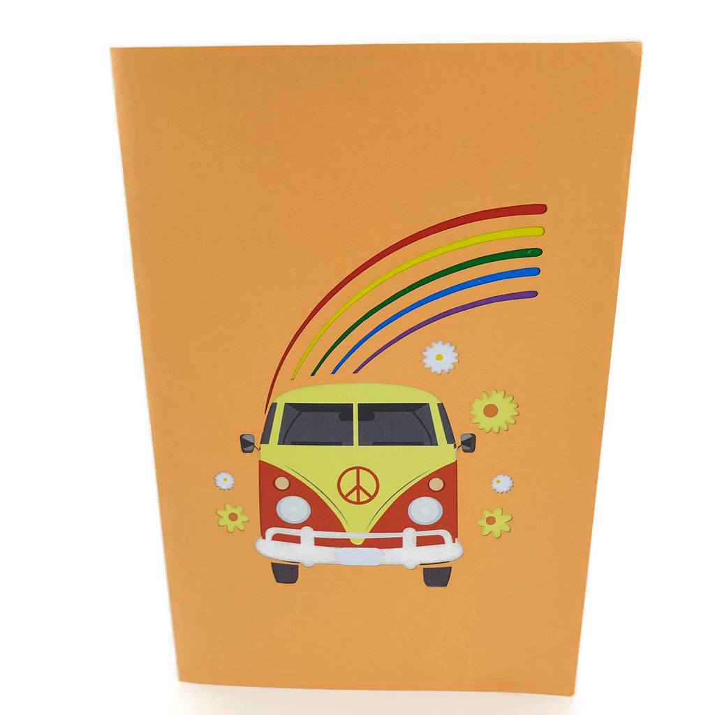 Hippie Kombi Van 3d pop up card