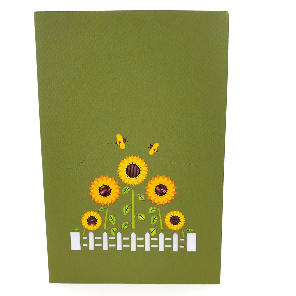Sunflower Garden 3d Pop Up Card