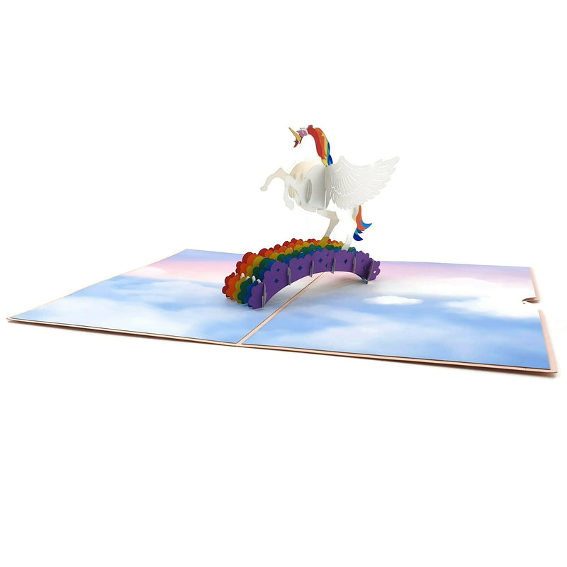 Magical Flying Unicorn 3D pop up card