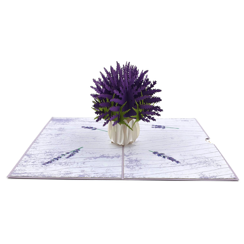 Lavender Vase 3d pop up card