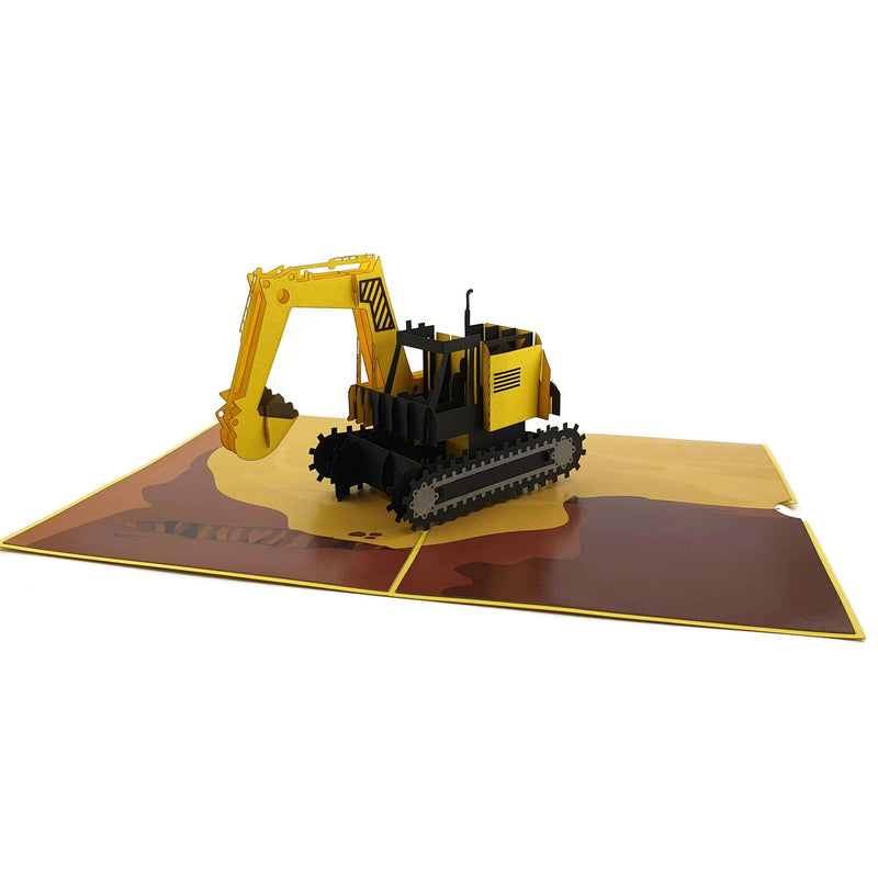 Digger 3d pop up card