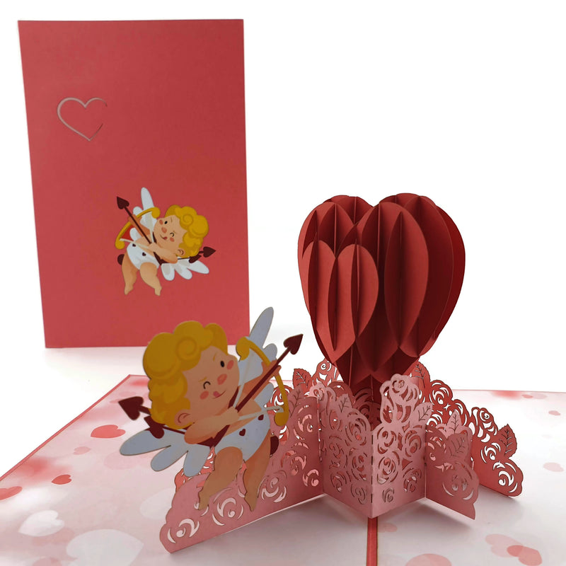 Valentines Day Cupid pop up card