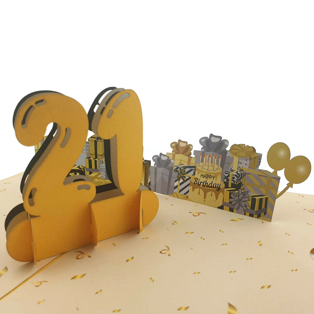 21st Birthday 3D pop up card