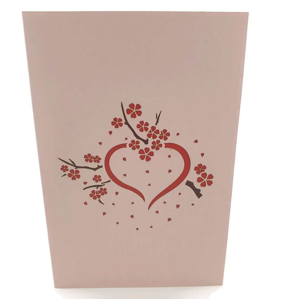 Cherry Blossom Love Scene 3D pop up card (Pink)