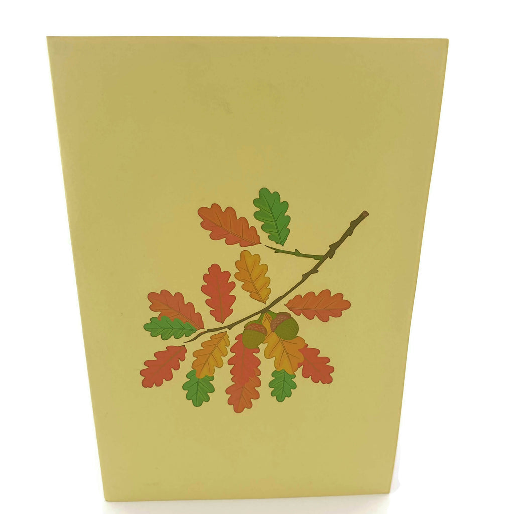 Autumn Oak Tree 3d Pop Up Card
