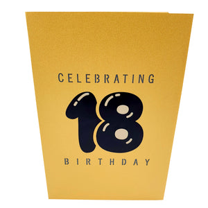 PrettyHappy18thBirthday3dGreetingCard_Cover