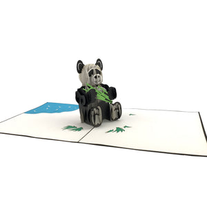 Panda 3D pop up card