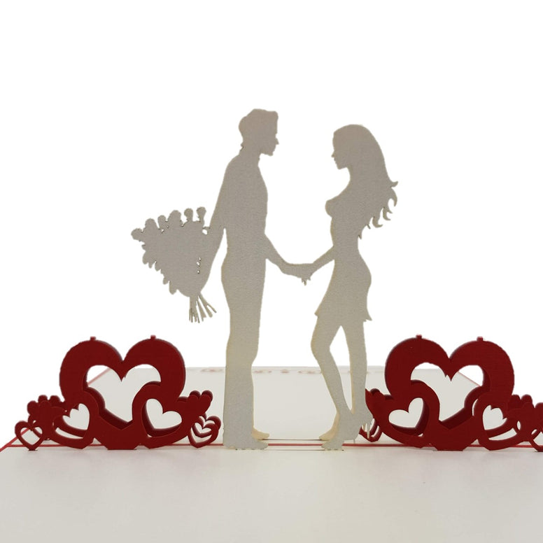 Couple in Love 3D pop up card