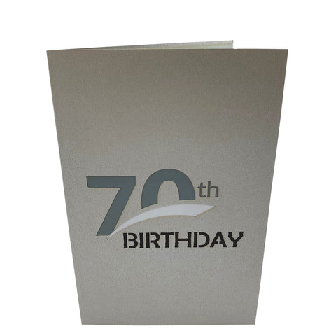 Silver70thBirthday3dGreetingCard-Cover
