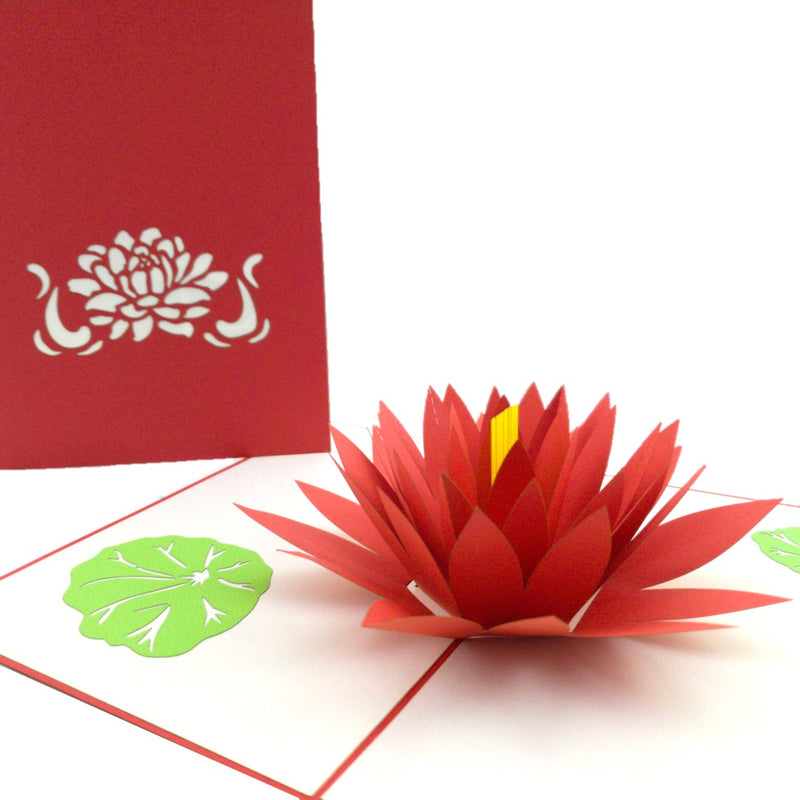 Water Lily (red) 3d pop up card