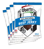 Oberto All Natural Peppered Beef Jerky, 3.25 Ounce Bag (Pack Of 4)