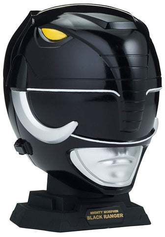 Power Rangers Legacy Mighty Morphin Black Ranger Helmet Display Set