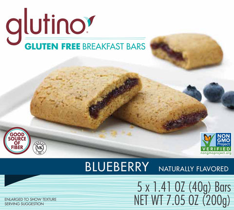 Glutino Gluten Free Breakfast Bars, Blueberry, 7.05 Ounce (Pack of 12)