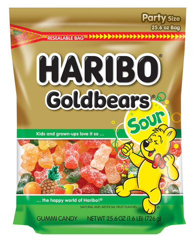 Haribo of America Sour Gold-Bears Candy, 25.6 Ounce (Pack of 6)