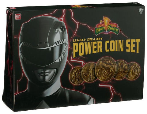 Power Rangers Legacy Diecast Coin Set