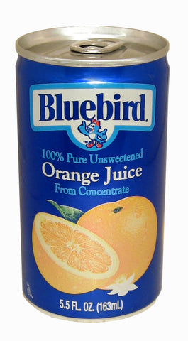 Bluebird  Unsweetened Orange Juice, 5.5-Ounce Cans (Pack of 48)