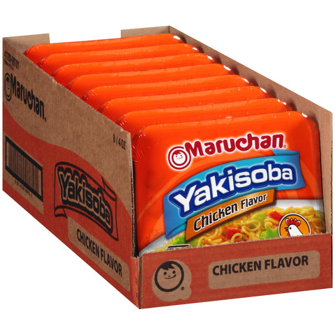 Maruchan Yakisoba, Chicken Flavor, 4-Ounce Microwavable Containers (Pack of 8)