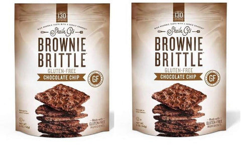 Sheila G's Gluten-Free Chocolate Chip Brownie Brittle (2-pack Bundle)