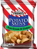 TJ T.G.I Friday's Potato Skins Snack chips Sour Cream & Onion 0 Trans Fat 6 Bags Of 3 OZ