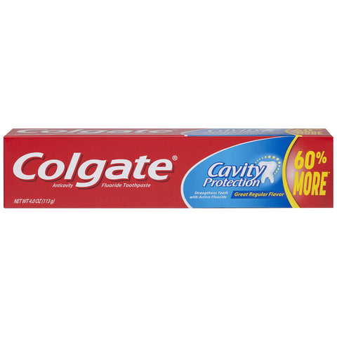 Colgate Cavity Protection Toothpaste with Fluoride - 4 ounce (6 Pack)