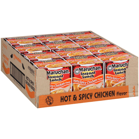 Maruchan Instant Lunch, Hot and Spicy Chicken, 2.25-Ounce Packages (Pack of 12)