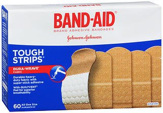 Band-Aid Tough Strips Adhesive Bandages All One Size - 60 ct, Pack of 3